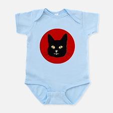 Black Cat Face Infant Bodysuit