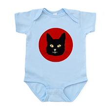 Black Cat Face Onesie
