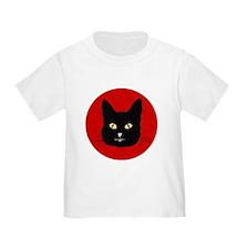 Black Cat Face T