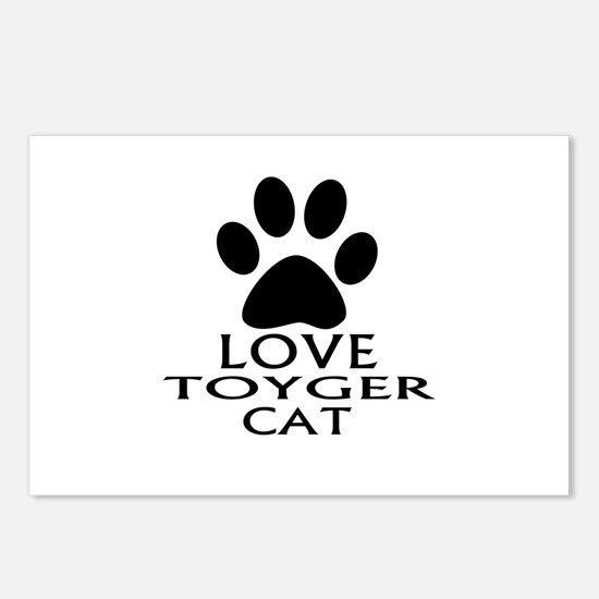 Love Toyger Cat Designs Postcards (Package of 8)