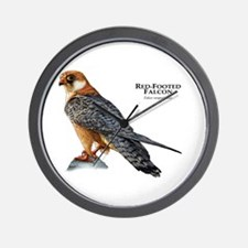 Red-Footed Falcon Wall Clock