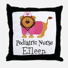 Personalized Pediatric Nurse Throw Pillow