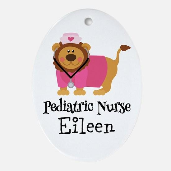 Personalized Pediatric Nurse Ornament (Oval)