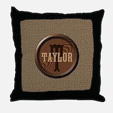 Customizable Monogram Throw Pillow