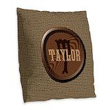 Background Burlap Pillows