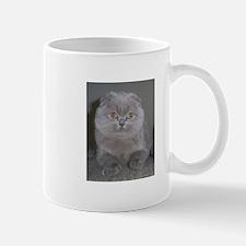 lilac Scottish Fold cat Mugs