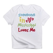 Cute Somebody mississippi loves me hometown Infant T-Shirt