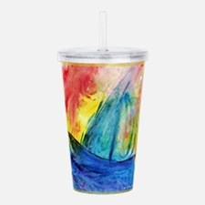 sailboat! Colorful art! Acrylic Double-wall Tumble