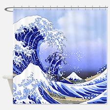 Monogram Z Surf's Up! Shower Curtain