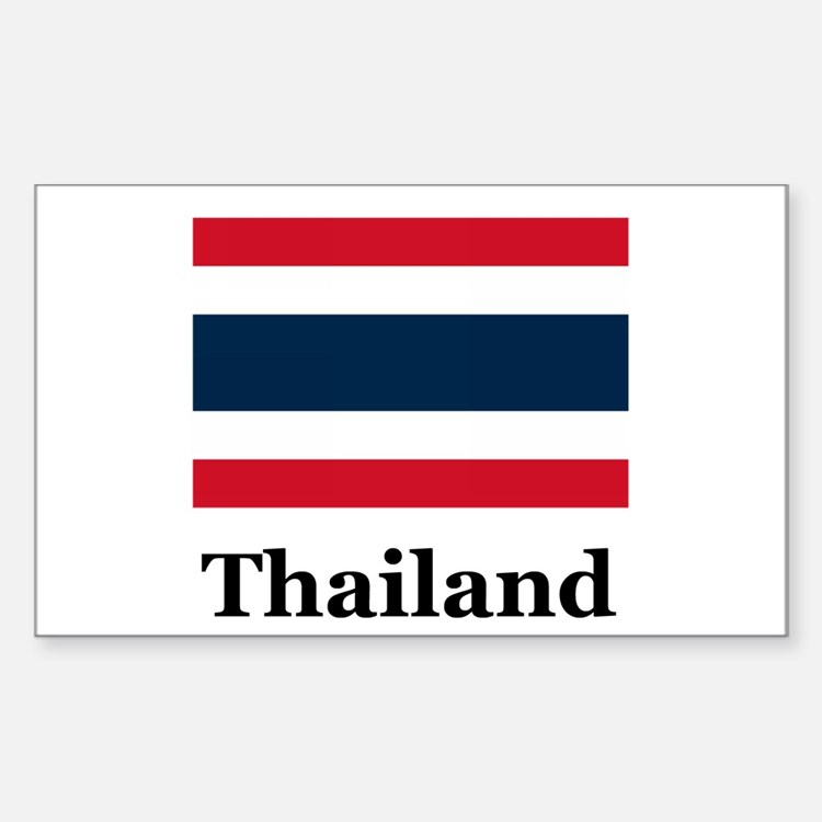 Thai Thailand Rectangle Decal