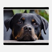 Rottweiler Dog Throw Blanket