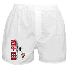 Beer & Pizza Boxer Shorts