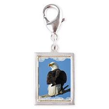White tail Eagle Silver Portrait Charm