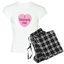 I Tolerate You Valentine's Day Heart Candy Pajamas