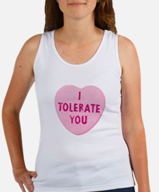 I Tolerate You Valentine's Day Heart Candy Tank To