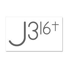 J316Typo.png Car Magnet 20 x 12
