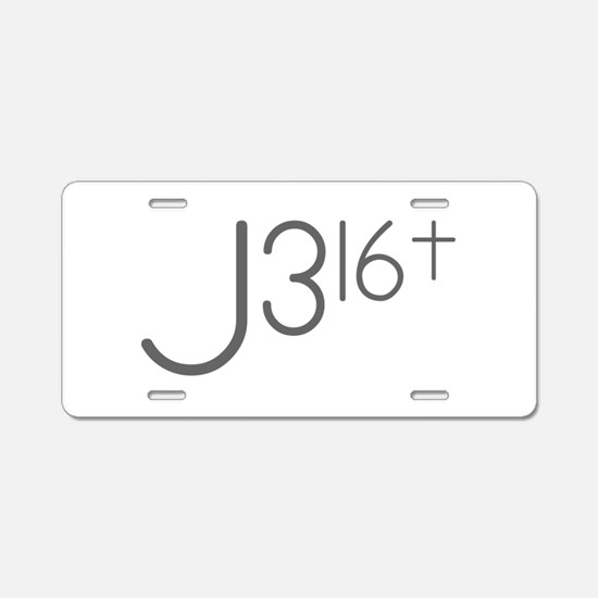 J316Typo.png Aluminum License Plate