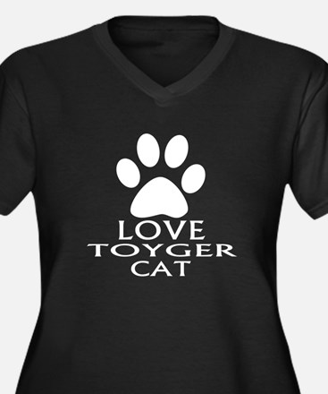 Love Toyger Women's Plus Size V-Neck Dark T-Shirt