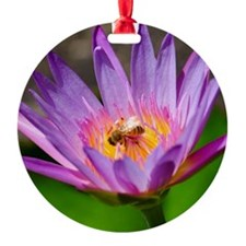 Unique Waterlily Round Ornament