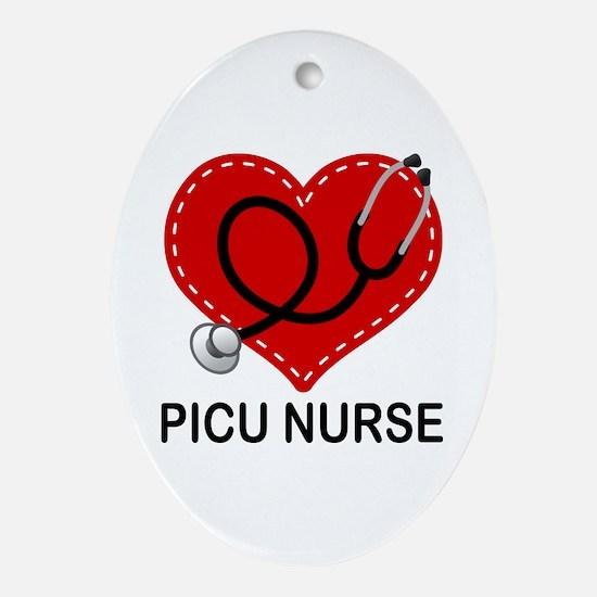 picu nurse Ornament (Oval)