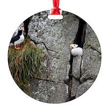 Cute Puffin Round Ornament