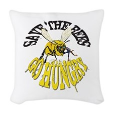 SAVE THE BEES Woven Throw Pillow