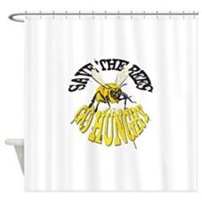 SAVE THE BEES Shower Curtain