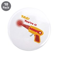 """Tag! You're It 3.5"""" Button (10 pack)"""