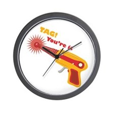 Tag! You're It Wall Clock