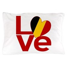 Red Belgian LOVE Pillow Case