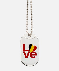 Red Belgian LOVE Dog Tags