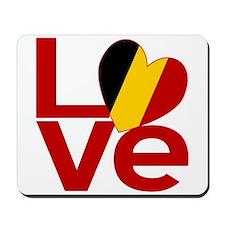 Red Belgian LOVE Mousepad