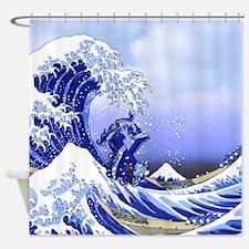 Monogram X Surf's Up! Shower Curtain
