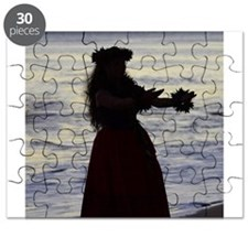 Hula Dancer at sunset Puzzle