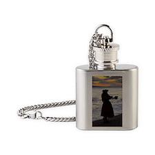 Hula Dancer at sunset Flask Necklace
