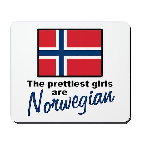 The Prettiest Girls are Norwegian Mousepad