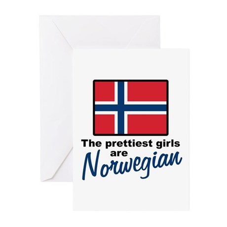 The Prettiest Girls are Norwegian Greeting Cards (