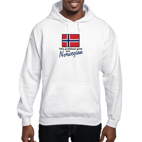 The Prettiest Girls are Norwegian Hooded Sweatshir