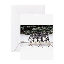 Siberian Husky Puppies Greeting Cards