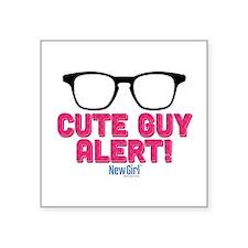 "New Girl Alert Square Sticker 3"" x 3"""