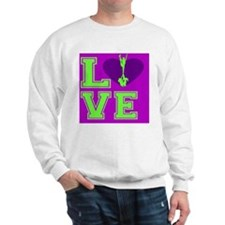 Purple and Green Cheerleader Sweatshirt