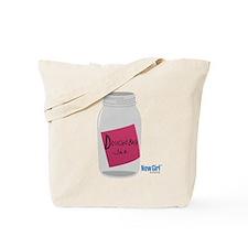 New Girl Jar Tote Bag