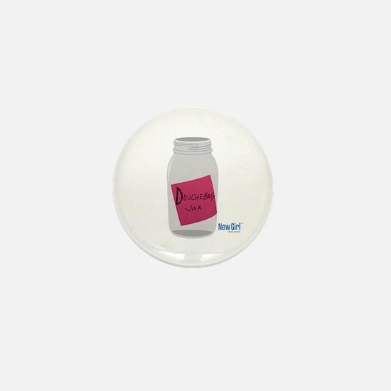 New Girl Jar Mini Button