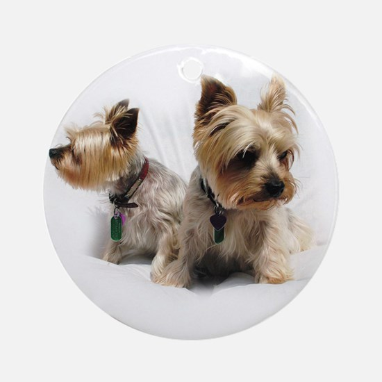 Silky Terriers Ornament (Round)