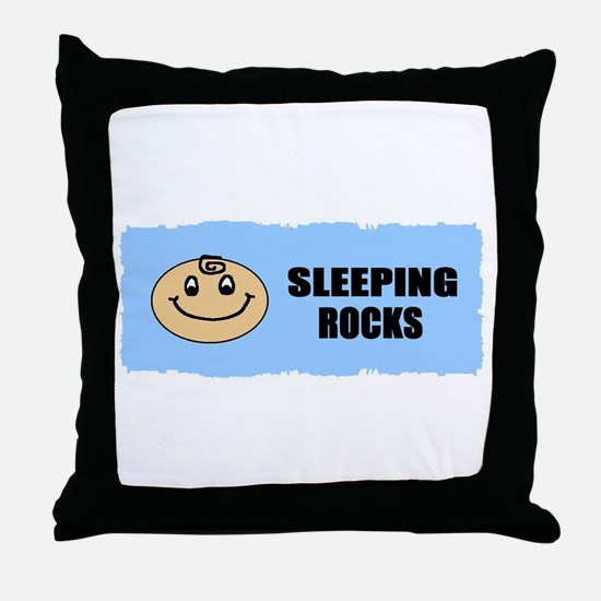 sleeping rocks Throw Pillow