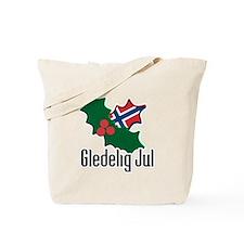 Norway Christmas Gledelig Jul Tote Bag