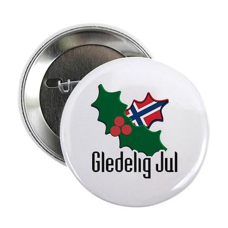 Norway Christmas Gledelig Jul Button