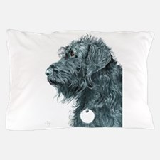 Black Labradoodle 7 Pillow Case