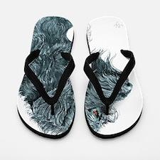 Black Labradoodle 7 Flip Flops