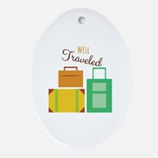 Well Traveled Ornament (Oval)